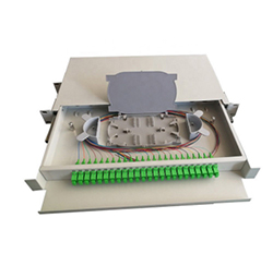 ODF 1U Optical Fiber Terminal Box Rack Mount Patch Panel