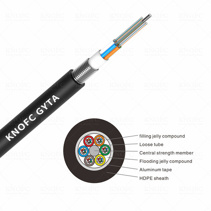Armored underground fiber optic cable 24 core fiber optic cable GYTA 0